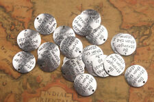 10PCS Antiqued Silver Metal Be Stronger than the storm Charms