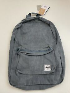 New Herschel Supply Co Day Pack Travel Back To School Cotton Blue Jean Backpack