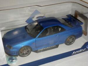 Nissan GT-R (R34) 1999 1:18 Bayside Blue by Solido