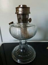 1937-1938 Clear Aladdin Beehive Kerosene Lamp, base, bowl and burner
