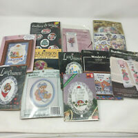 Lot of 12 Mixed Brand Cross Stitch Kits Ornaments Bookmarks Banners