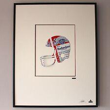 Martin Allen Can Art - Budweiser American Football Helmet Large Alluminium Frame