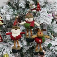 Christmas Ornaments Santa Claus Snowman Tree Hanging Decorations Xmas For Gift