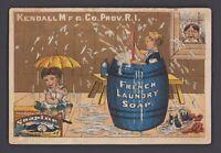 Werbekarte - Victorian Trade Card SOAPINE Soap Kendall 1827 Providence RI