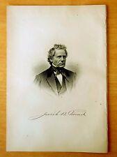 JOSIAH BOWERS FRENCH Lowell, Massachusetts MA Steel Engraving Portrait 1890