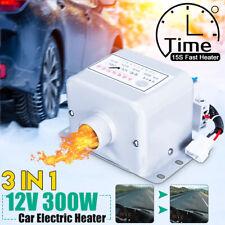 12V 300W Portable Car Heater Fan Demister Defroster Heating Warmer Windscreen US