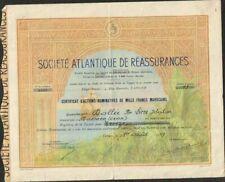 TOP DECO => SOCIÉTÉ ATLANTIQUE DE RÉASSURANCES (TANGER MAROC) (W)