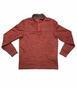 Under Armour Storm 1 Fleece Lined Quarter Zip Pullover Men's S Red Black