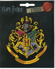 Harry Potter Hogwarts School of Wizardry Logo Peel Off Image Sticker Decal, NEW