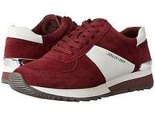 MICHAEL KORS ALLIE TRAINER MERLOT (BURGUNDY) / WHITE - MULTIPLE SIZES