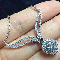 "Diamond Angel Wings Pendant Necklace 18"" Chain Solid 925 Sterling Silver Jewelry"