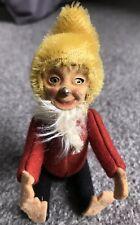 "Early Rare Antique Miniature 5"" Mohair & Felt Schuco Elf Gnome"