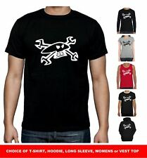 Guy Martin Skull & Spanners T Shirt - Isle of Man TT Motorbike Biker