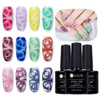 7.5/10ml Weiß Klar Blühen Gellack Soak Off UV Nagellack Nail Blossom Gel Varnish