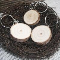 Creative DIY Wood Keychain Keyring Car Bag Pendant KeyChain Ring Jewelry G_gu