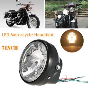 7Inch Retor Cove Motorcycle Projector Headlight LED Lamp Turn Signal Indicators