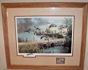Ken Zylla-Commemorative Print -Game Bird Series 1987 Stamp