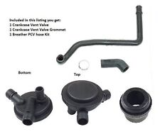 VW Golf Cabrio Jetta 2.0L Breather Vacuum PCV Vent Valve w/Grommet and Hose Kit
