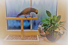 TISCHFREISITZ Freisitz für FENSTERBANK Papageienfreisitz Papageienspielzeug NEU