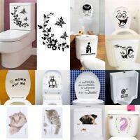New Toilet Seat Wall Sticker Vinyl Art Removable Bathroom Decals Decor NICA HQ