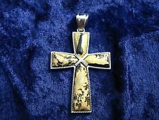 Jasper Cross Pendant - FREE Shipping, FAST Delivery, US SELLER, Silver Filled