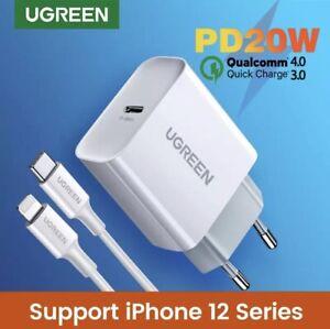 Chargeur rapide 20w Iphone Samsung Nintendo switch UGREEN® USB-C 🇫🇷 ✨