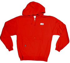 Cliche VIVA PATCH Mens Hooded Sweatshirt Large Red NEW