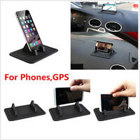 Car Mount Holder Stand Non-slip Silicone Pad Dash Mat for Phones Tablet PC