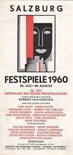 Salzburger Festspiele KARAJAN Karl Böhm JOSEPH KEILBERTH1960