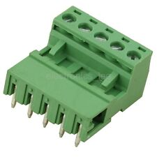 10pcs 2EDG 5Pin Plug-in Screw Terminal Block Connector 5.08mm Pitch Right Angle