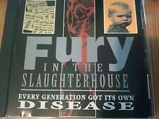 Fury In The Slaughterhouse ‎ Every Generation Got Its Own Disease RARE PROMO