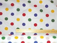 1 Pudsey Bear Charity Fabric Multi Coloured Polka Dot  Material Children In Need
