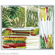96 Piece Island Palms Leaf Tropical Picks Stirrers Napkins Cocktail Party Set