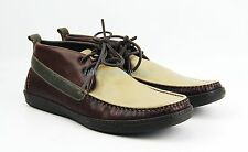BRUNO MAGLI BROWN BEIGE GREEN HANDMADE BOOTS 100% LEATHER ITALY NEW SIZE 9 # 26