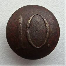 Russia Army Uniform Button with Number 10 Regiment Crimean War S7