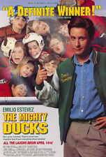 "THE MIGHTY DUCKS Movie Poster [Licensed-NEW-USA] 27x40"" Theater Size DISNEY"