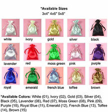 "3x4"" PREMIUM QUALITY SATIN POUCH-30/pk, Wedding Party Favor Gift Candy Bag."