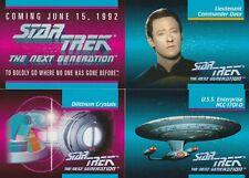 1992 STAR TREK THE NEXT GENERATION PROMO PACK SEALED (4 CARDS)