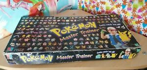 Pokemon Master Trainer board Game 100% Complete Retro Vintage Collectable