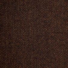 Dark Brown Herringbone Lambswool Tweed - 2.50 Mtrs