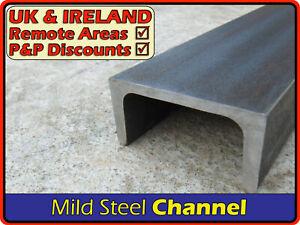 Mild Steel Channel║40 x 20 mm⫽50 x 25 mm2x1 ⫽80 x 40 mm⫽100 x 50 mm4x2