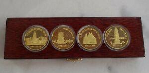 Shanghai Mint 1984 China brass medal Pagoda Set China coin RARE!