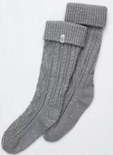 UGG Women's Tall Cableknit Rainboot Socks,9-11,Grey