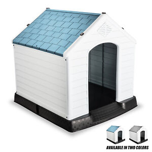 XXL Dog Pet Kennel House Cage Portable Waterproof with Elevated Flooring