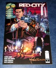 RED CITY #1 signed 1st print IMAGE COMIC MARK DOS SANTOS NM NEW UNREAD COA 2014