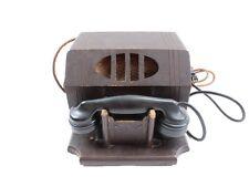 Antique Wood Table Top Telephone Crank Type