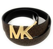 MICHAEL KORS Women's Twist Reversible MK Logo Belt Perfect Gift Size S M L XL