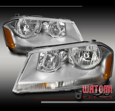 FOR 08-14 DODGE AVENGER CRYSTAL STYLE HEADLIGHTS HEADLAMPS LAMPS ASSEMBLY CHROME