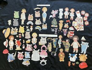 Nice Lot of Old Cut Dolly Dingle Paper Dolls, Grace Drayton, Pictorial Review