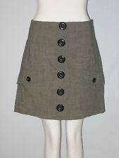 KENSIE Size 6 Gray Big Button Accented Mini Skirt